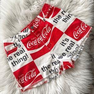 Coca Cola Shorts - Coca Cola Shorts High Waisted NWOT!
